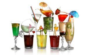 разнообразные коктейли являются очень калорийными