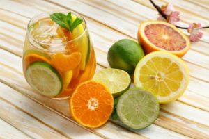 апельсин и лимон с похмелья