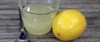 Voda s limonom s pohmelya